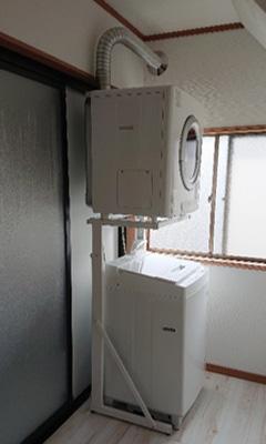 ガス衣類乾燥機<設置例>